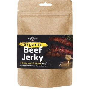 SirLoin Luomu Beef Jerky Honey and Juniper, 50g