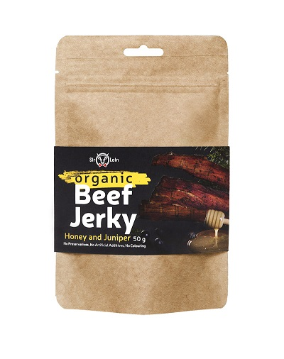 SirLoin Luomu Beef Jerky Honey and Juniper, 50g